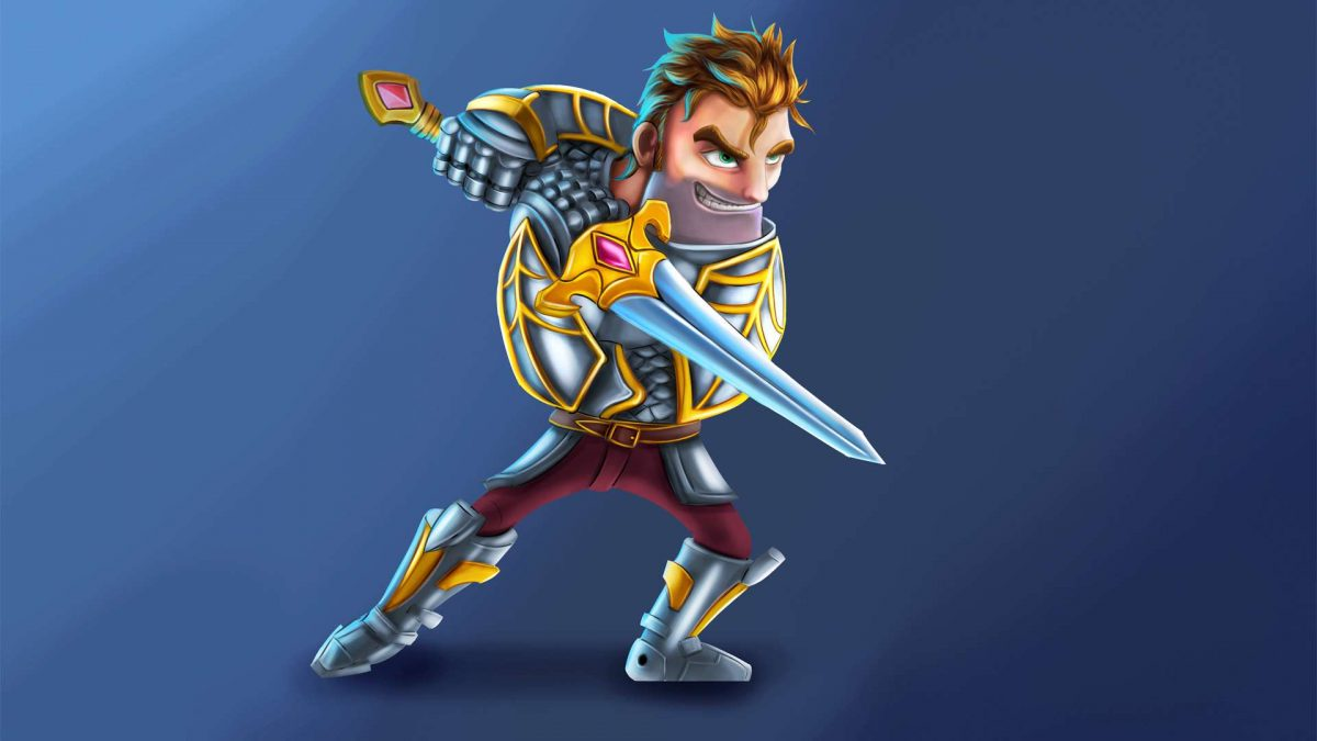 Characters for mobile turn-based tactics in the fantasy genre