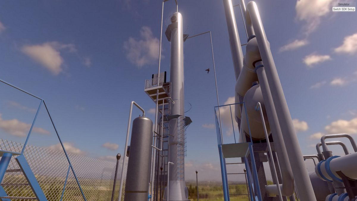 "VR симулятор роботи колони ""установки осушки природного газу"""